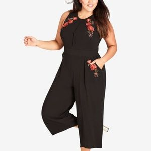 City Chic Trendy Plus Size Embroidered Cropped Jum